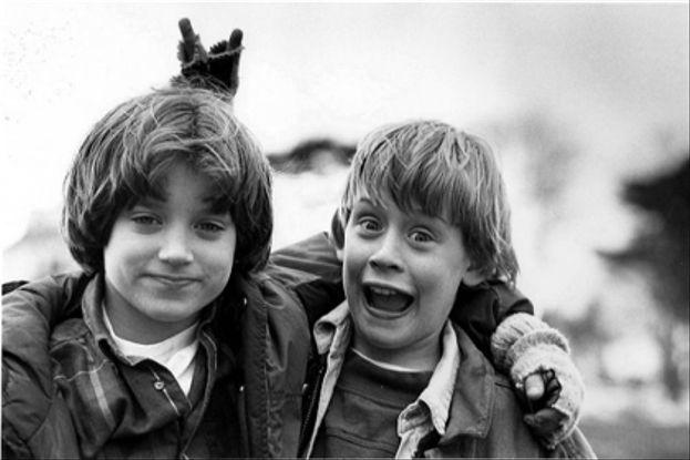 Elijah Wood y Macaulay Culkin