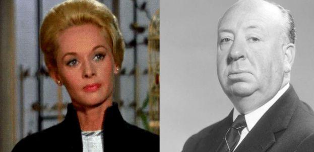 6.- Tippi Hedren y Alfred Hitchcock