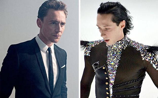 Tom Hiddleston y Johnny Weir