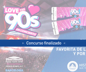 ¡Gana 4 entradas para el concierto 'Love the 90s' en Barcelona!