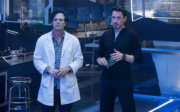 Bruce Banner y Tony Stark en 'Los Vengadores'