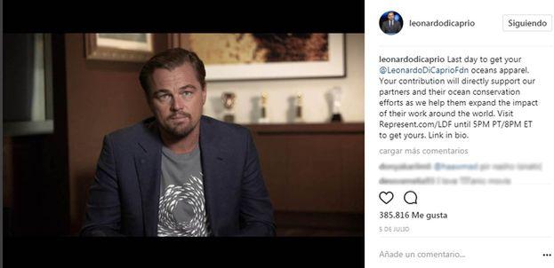 Leonardo DiCaprio - 18'3 millones de seguidores