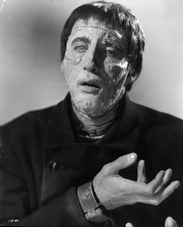 La criatura en 'La maldición de Frankenstein'