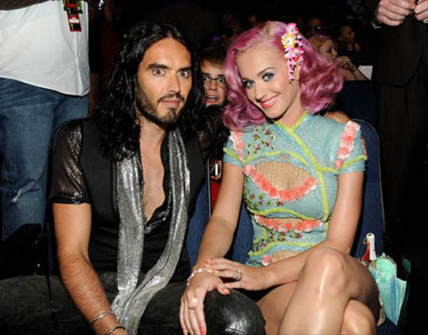 Justin Bieber a Katy Perry y Russell Brand