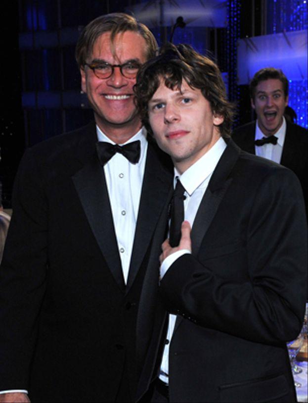 Armie Hammer a Aaron Sorkin y Jesse Eisenberg