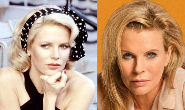 Kim Basinger nel 1984 e oggi