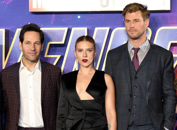 Paul Rudd, Scarlett Johansson e Chris Hemsworth