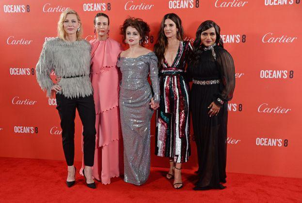 Cate Blanchett, Sarah Paulson, Helena Bonham Carter, Sandra Bullock e Mindy Kaling