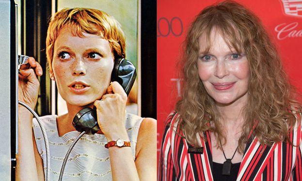 Mia Farrow nel 1968 e oggi
