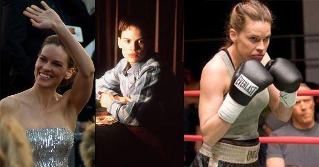 """Anche Hilary Swank ha messo a dura prova il proprio fisico. Nel 1999 perse peso, guadagnando un Oscar, per """"Boys Don't Cry"""". Nel 2004 eccola invece sul ring di """"Million Dollar Baby"""" con 10 kg in più di muscoli e un altro Oscar."""