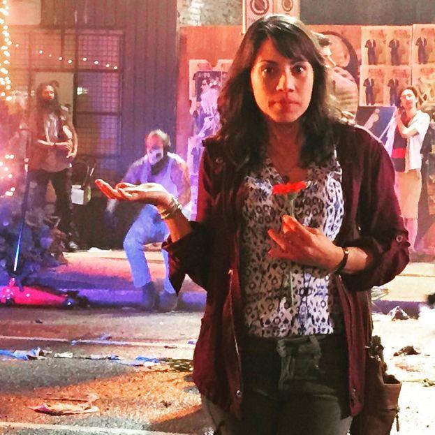 Elizabeth Rodriguez sul set