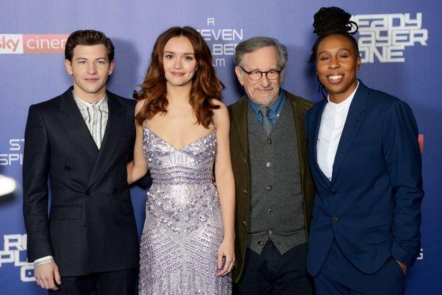 Tye Sheridan, Olivia Cooke, Steven Spielberg e Lena Waithe