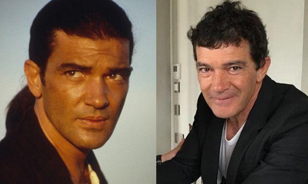 Antonio Banderas nel 1995 e oggi