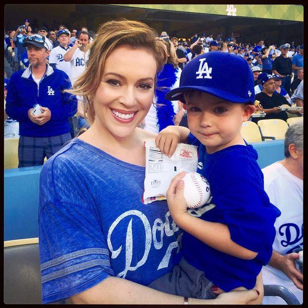 Alyssa Milano - Los Angeles Dodgers (baseball)
