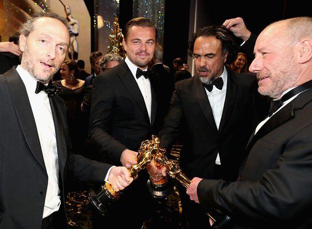 Emmanuel Lubezki, Leonardo DiCaprio, Alejandro González Iñárritu e Steve Golin