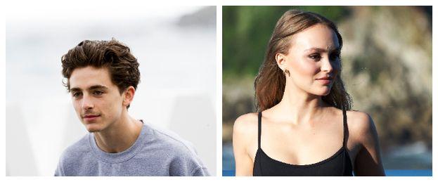Timothée Chalamet e Lily-Rose Depp