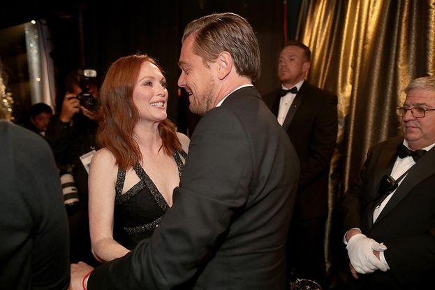 Julianne Moore e Leonardo DiCaprio