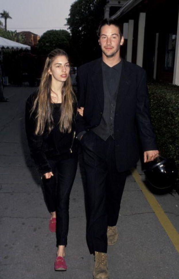 Keanu Reeves e Sofia Coppola, 1992