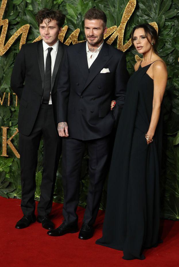 Brooklyn, David e Victoria Beckham