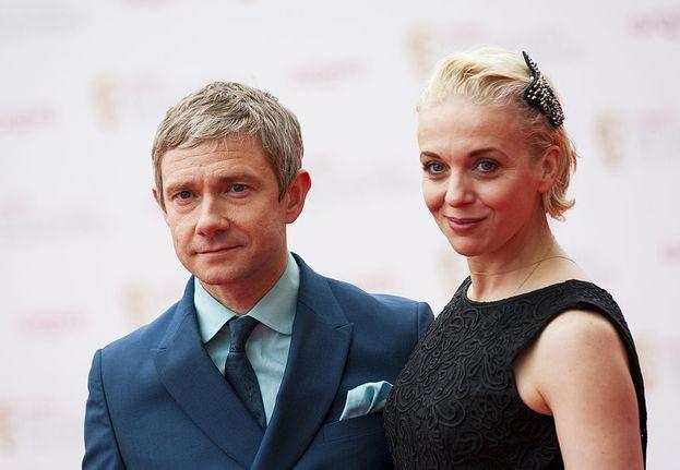 Martin Freeman e Amanda Abbington, insieme dal 2000 (ma non hanno mai svelato se siano anche sposati)