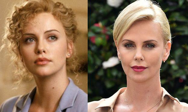 Charlize Theron nel 1997 e oggi