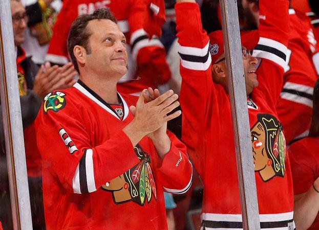 Vince Vaughn - le squadre di Chicago: Blackhawks (hockey) e Cubs (baseball)