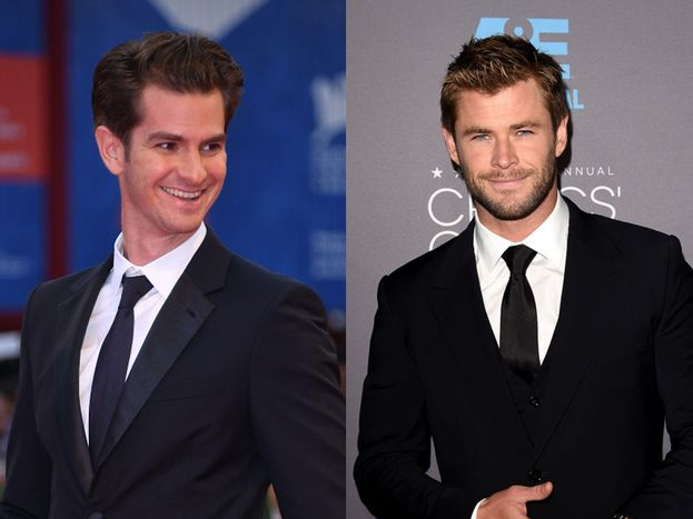 Andrew Garfield e Chris Hemsworth - classe 1983