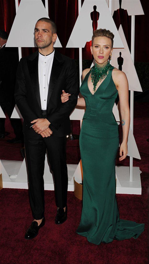 Scarlett Johansson e Romain Dauriac, Academy Awards 2015