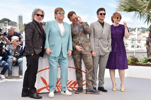 Dexter Fletcher, Elton John, Taron Egerton, Richard Madden e Bryce Dallas Howard