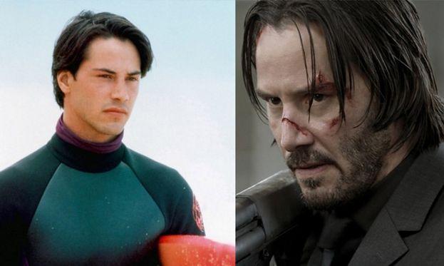 "Keanu Reeves nel 1991 e nel film ""John Wick"" (2014)"