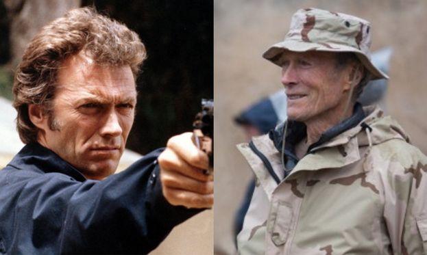 """Clint Eastwood nel 1973 e sul set del suo ultimo film, """"American Sniper"""" (2014)"""