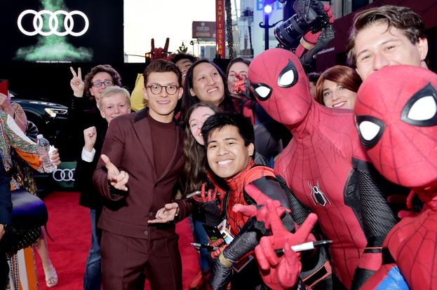 Tom Holland (Spider-Man: Homecoming e Spider-Man: Far From Home)