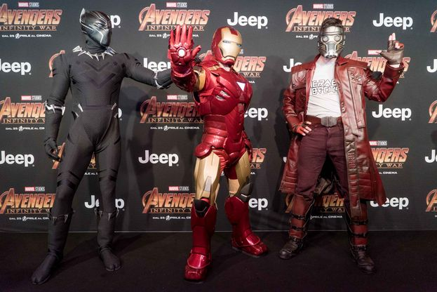 Iron Man, Black Panther e Star-Lord
