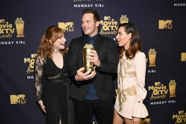 Bryce Dallas Howard, Chris Pratt e Aubrey Plaza