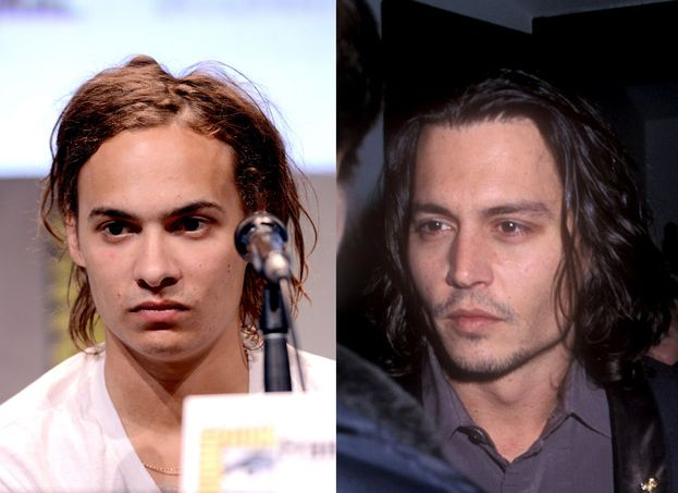 "Dillane e Depp nel 1999, alla prima di ""Sleepy Hollow"""