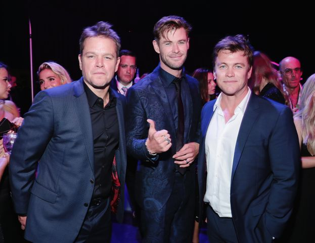 Matt Damon, Chris Hemsworth e Luke Hemsworth