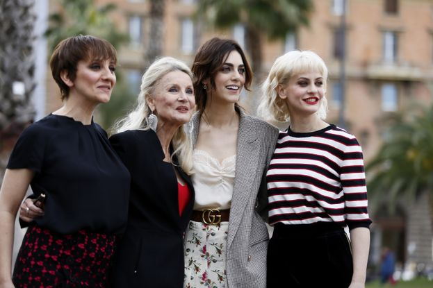 con Lucia Ocone, Barbara Bouchet e Marina Rocco