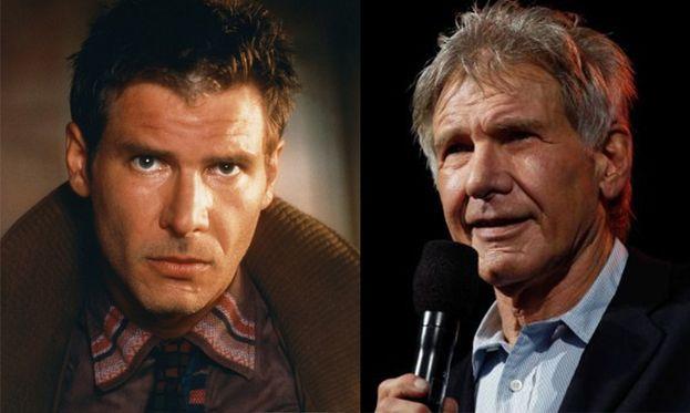 Harrison Ford nel 1982 e oggi