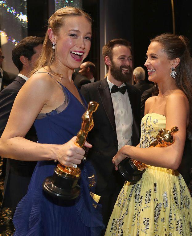 Le due attrici che hanno conquistato la serata: Brie Larson e Alicia Vikander