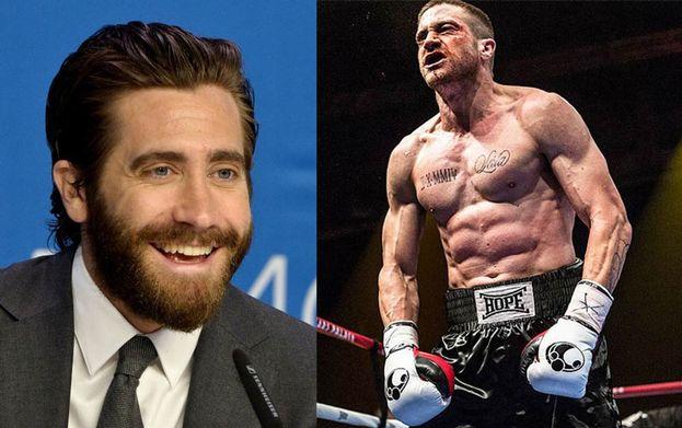 """Impressionante la trasformazione di Jake Gyllenhaal: fisico scolpito e muscoli per interpretare un campione di boxe nel film """"Southpaw - L'ultima sfida""""."""