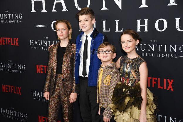 Lulu Wilson, Paxton Singleton, Julian Hilliard e Mckenna Grace (The Haunting of Hill House)