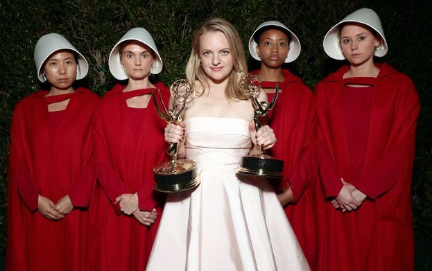 Difred (Elisabeth Moss in The Handmaid's Tale)
