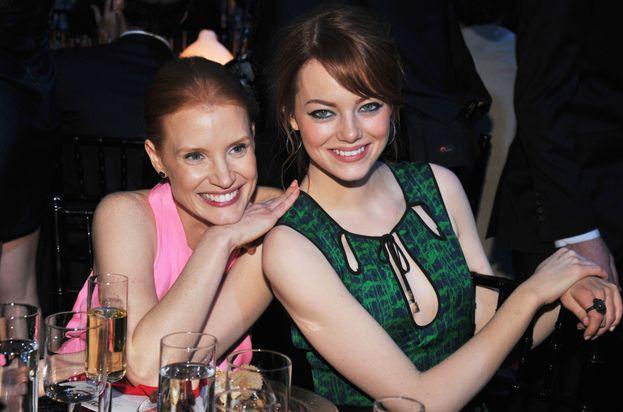 Jessica Chastain ed Emma Stone