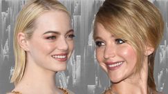 Jennifer Lawrence: truccata a metà per l'after party dei Golden Globes, Emma Stone le ha dato buca