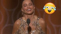 Sofia Vergara LOL sul palco dei Golden Globe Awards