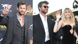 Chris Hemsworth ha tirato una frecciatina a Miley Cyrus, parlando del fratello Liam