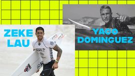 Zeke Lau e Yago Dominguez a Alaia Bay: tra onde altissime e montagne innevate [VIDEO DI SURF]